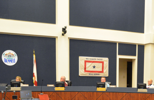 'It was one of those odd meetings where all the commissioners were in agreement,' Bunnell City Commissioner Elbert Tucker said of the 5-0 vote that gave Bunnell new legal representation Thursday. (© FlaglerLive)