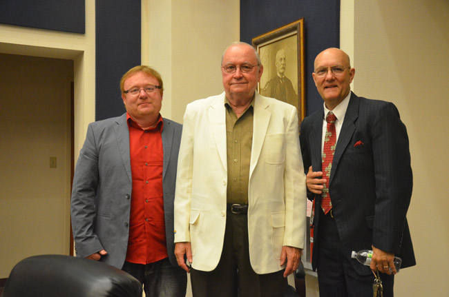 The new majority: from left, John Rogers, Bill Baxley and Elbert Tucker. (© FlaglerLive)