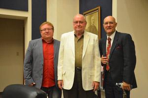 The three Horsemen: From left, John Rogers, Bill Baxley and Elbert Tucker. (© FlaglerLive)