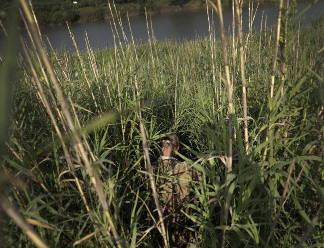 In the weeds: a member of the U.S. Border Patrol. (Border Patrol)