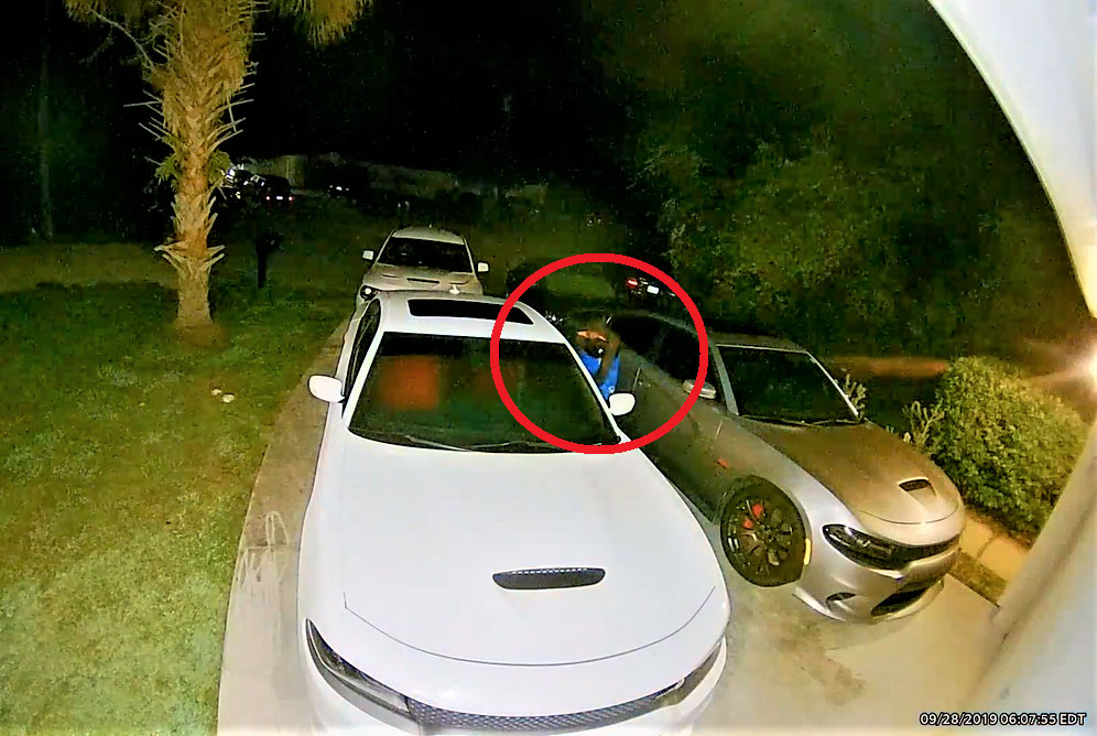 A still from one of the surveillance videos that helped lead to the suspected burglar, a 16-year-old boy. (FCSO)