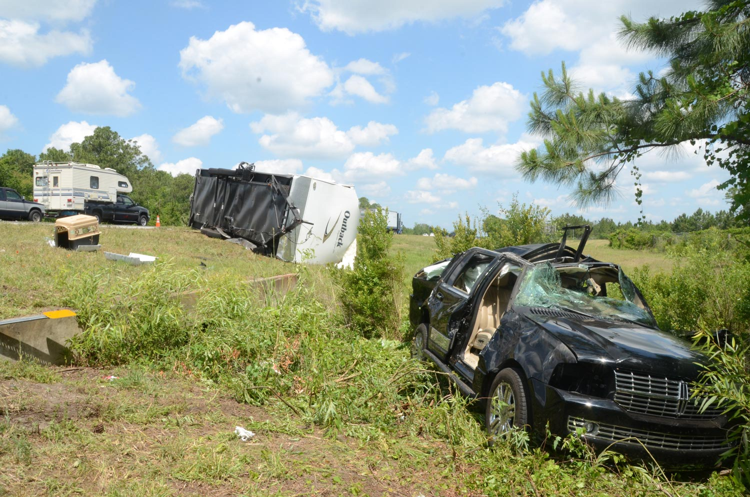 Camper Hauling Suv Flips On I In Palm Coast Hurting Two