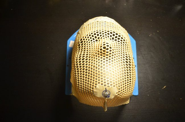 The author's required radiation mask. (© FlaglerLive)