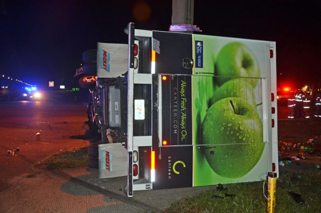 canteen delivery truck crash