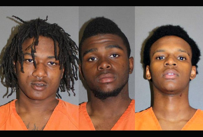 From left, Laster Qwajon, Rico Ransom and Deque McCall.