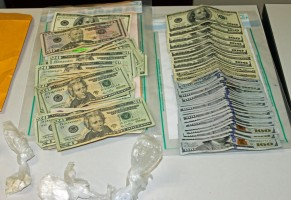 The cash seized today totaled just over $6,000. Click on the image for larger view. (© FlaglerLive)