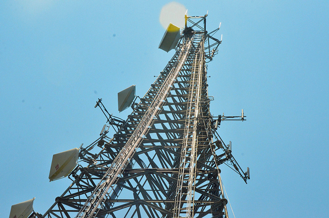 It's watching you: the tower on U.S. 1 in Palm Coast. (c FlaglerLive)