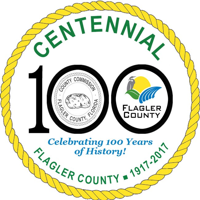 flagler county centennial celebration logo