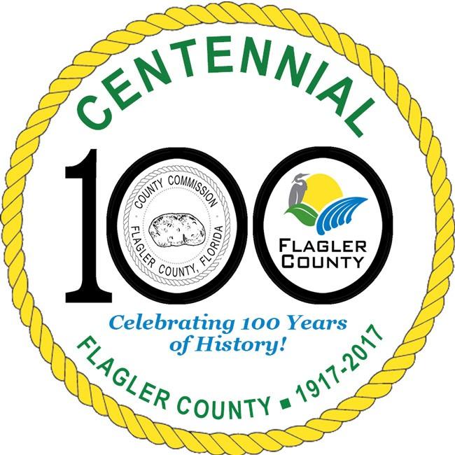 flagler county centennial celebration logo