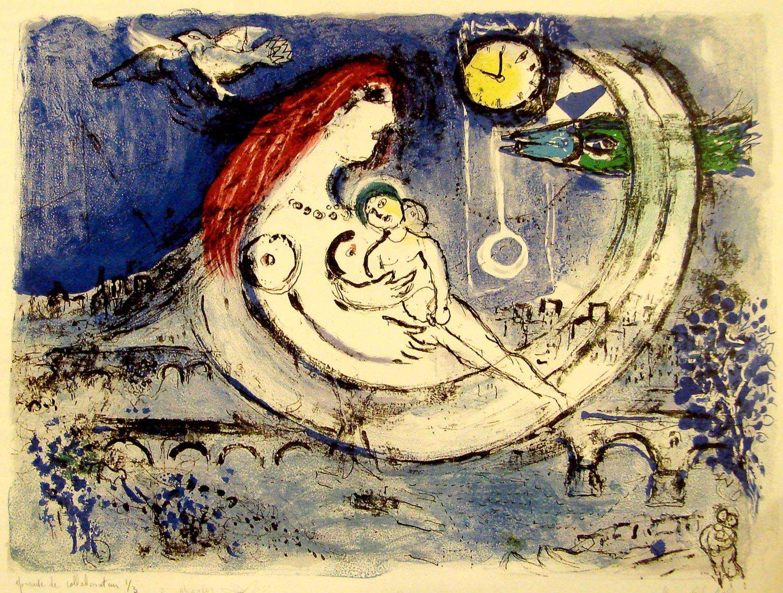 Marc Chagall, 'Paysage Bleu' (1958)