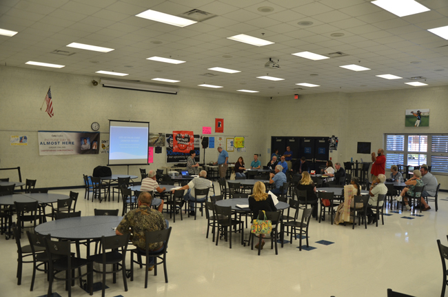 Attendance at Palm Coast's charter-review workshop was sparse, with half the audience made up of city staffers, reporters or council members. (c FlaglerLive)