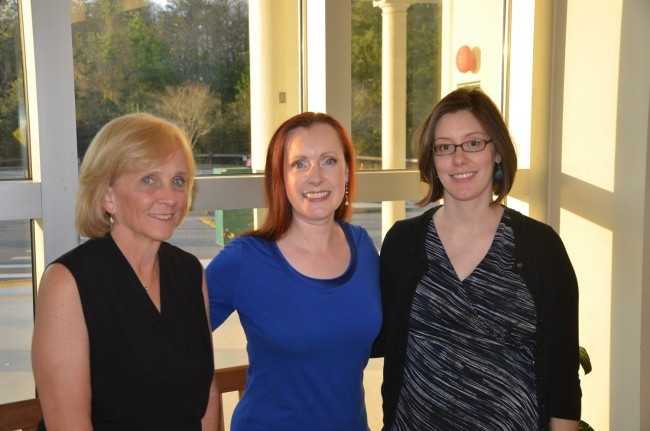 Cheryl Tristam with FYO Artistic Director Sue Cryan, left, and Maggie Snively. Click on the image for larger view. (© FlaglerLive)