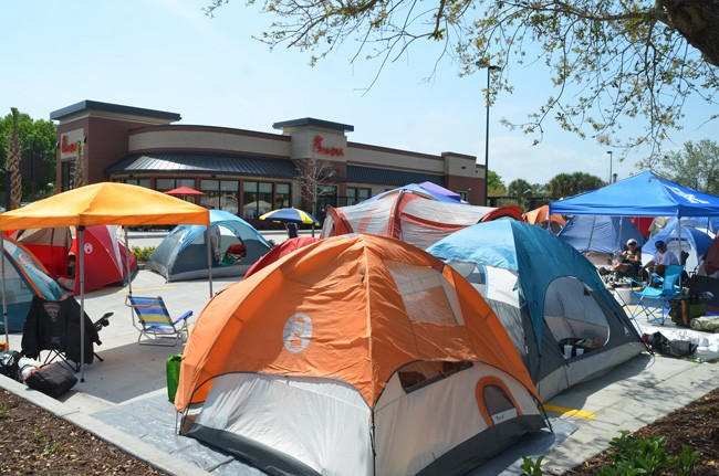 It was tent city today at Chick-fil-Au0027s new Palm Coast location off & Chick-fil-A Phenomenon Camps Out in Palm Coast: If Grateful Dead ...