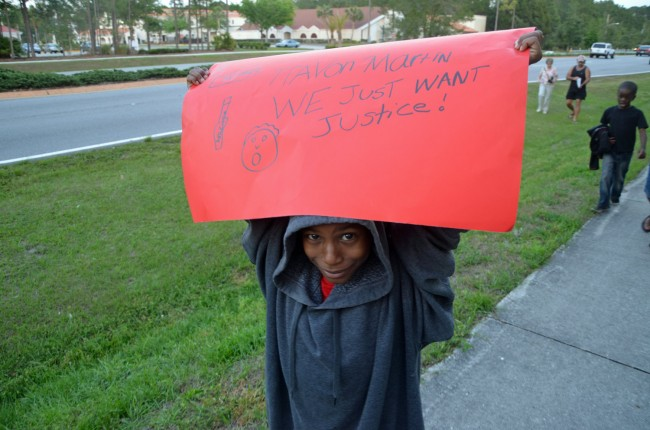 Christopher Scott, 10, a 4th grader at Wadsworth Elementary. Click on the image for larger view. (© FlaglerLive)