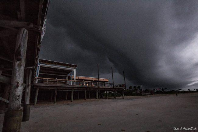wall cloud colin tropical storm