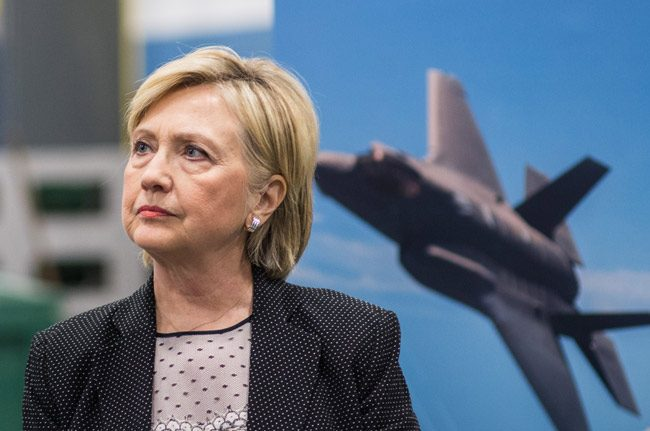 Warplanes are no props in Clinton's background. (Hillary for America)