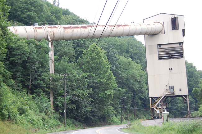 An old coal tipple in West Virginia. (c FlaglerLive)