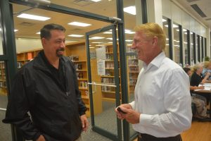 Craig Coffey, left, and Larry Jones in October 2016. (© FlaglerLive)