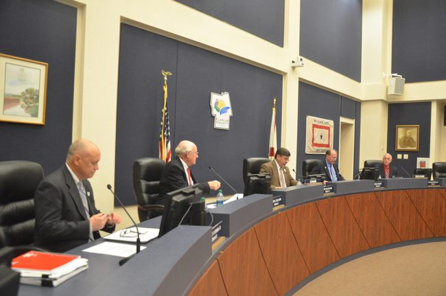 It was not Flagler County commissioners' finest hour. (c FlaglerLive)