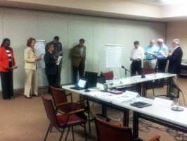 Commissioners at work. (© FlaglerLive)