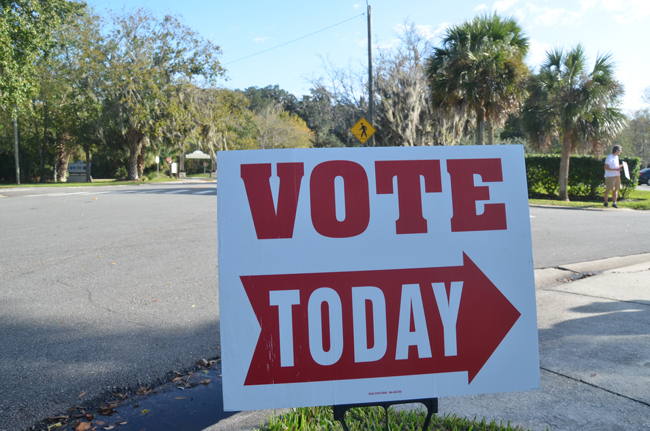 The Palm Coast Community Center is among the more heavily used polling--and electioneering--locations in the county, but it's at the center of a conflict between the Supervisor of Elections and the Palm Coast City Manager over the use and cost of a room during early voting days in 2014. (© FlaglerLive)