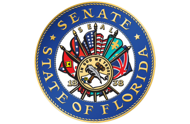 confederate flag on Florida Senate seal