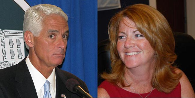 Charlie Crist and Colleen Conklin