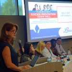 School Board member Colleen Conklin led a suicide-awareness town hall in Palm Coast last spring. (© FlaglerLive)