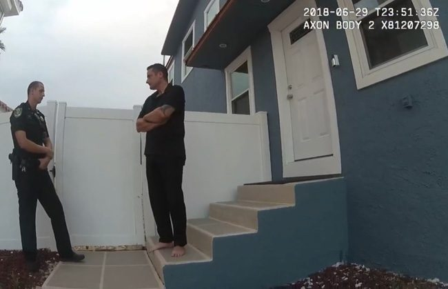 A Still From The Body Cam Video Of One Two Sheriff S Deputies Afternoon Flagler Beach Commissioner Arrest On June 29