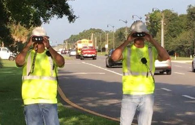 The Sheriff's Office is dressing up some of its cops as construction workers, ostensibly to honor workers on Labor Day, but also as decoys to catch speedsters and drunk drivers this weekend. (FCSO)