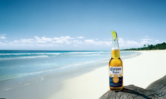Corona on its own Omaha Beach.