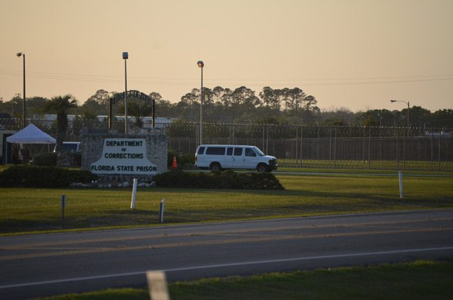 Grim wheels: The van that takes the corpses of inmates who have just been executed at Starke state prison, above, may soon be rolling again. (© FlaglerLive)