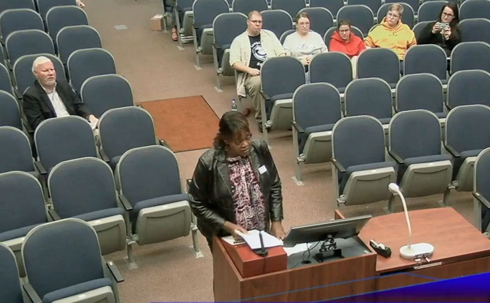 Rev. Charlene Cothran of Palm Coast's Zion Baptist Church, and a Realtor in town, appeared before the school board Tuesday