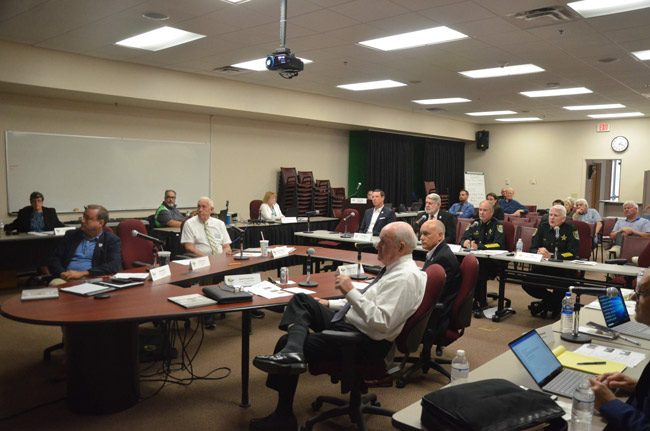 County commissioners last met with the sheriff and the clerk of court almost a month ago to discuss interim space for the sheriff's operations, agreeing to a 15-day deadline. The deadline passed, with no solutions or new proposals, and no meeting scheduled to discuss it the issue. (© FlaglerLive)