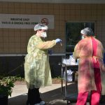 Covid testing at the Flagler Health Department in Bunnell. (© FlaglerLive)