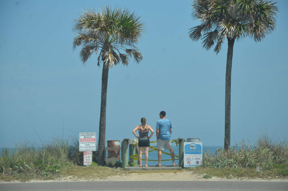 The view from Covid-19 in Flagler Beach Monday. (© FlaglerLive)