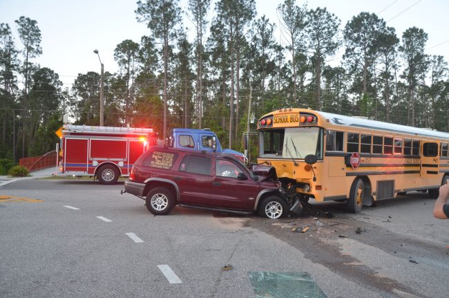 school bus crash with injuries