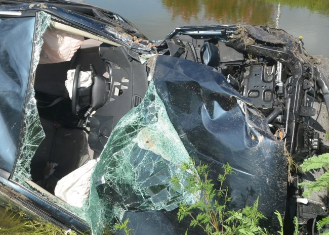 crash scene pond