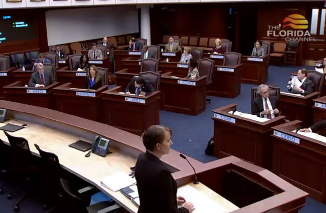 The Constitution Revision Commission meeting last week at the Capitol. (Florida Channel)