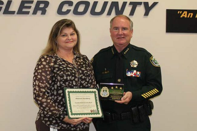 It takes a vision: deputies make arrests, but they also rely on crime analysts like Shannon Sandberg, who's been implementing the Sheriff's Office's Intelligence Led Policing initiative since January 2017, leading to detection of trends, locations of persons of interest and arrests. She was the sheriff's December Employee of the Month, an honor she received Wednesday from Sheriff Rick Staly. (FCSO)