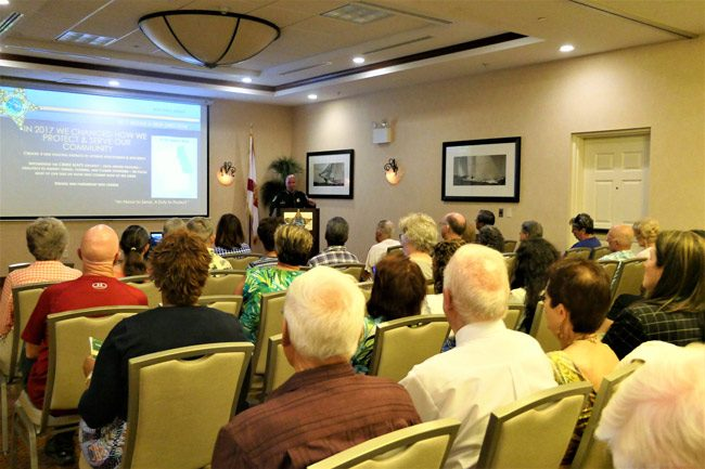 Sheriff Rick Staly's second annual 'Fighting Crime Together' presentation at the Hilton garden Inn last week. (FCSO)