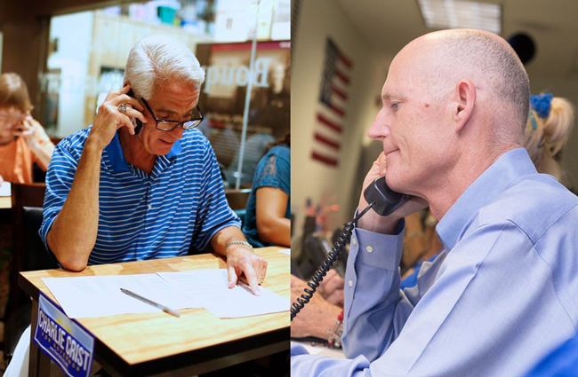 I've got your number, Rick Scott is telling Charlie Crist following today's release of the latest Quinnipiac poll, which favors Crist. (Facebook)
