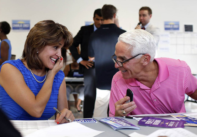 Charlie Crist and Annette Taddeo. (Facebook)