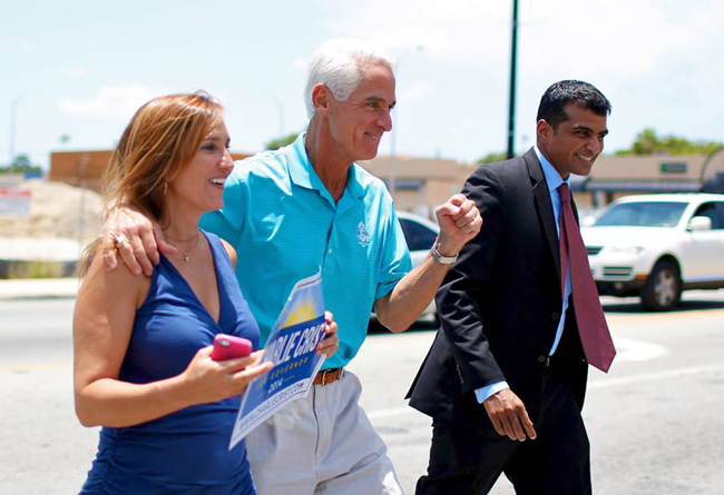 Charlie Crist, in perpetual campaign mode. (Facebook)