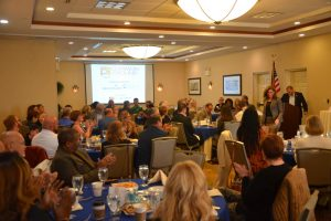 The breakfast drew a sizable crowd. Click on the image for larger view. (© FlaglerLive)