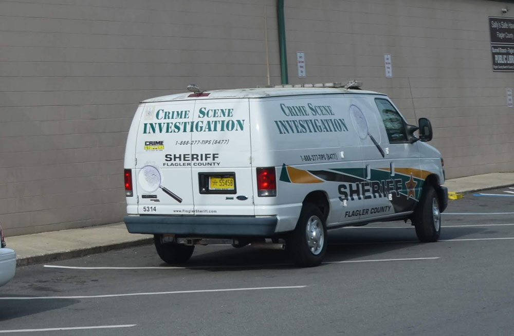 The Sheriff's Crime Scene Investigations unit was dispatched to the overdose incident. (© FlaglerLive)
