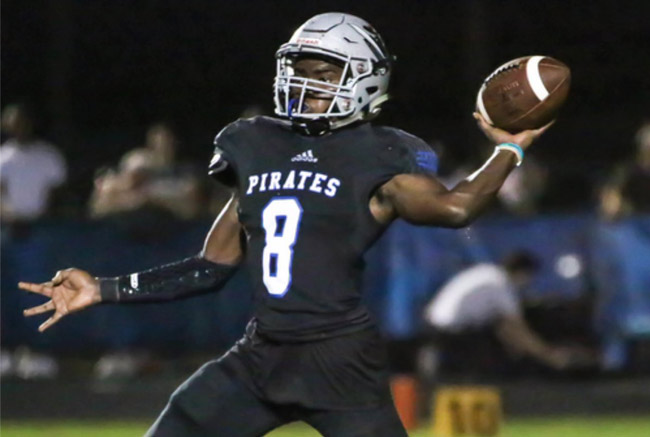 Curtis Gray, who was killed Saturday morning, was a quarterback for Matanzas High School before transvferring this year to Flagler Palm Coast High School. The image was tweeted by image was tweeted by Superintendent Jim Tager with one line: 'God's plan. Two schools. One family.'