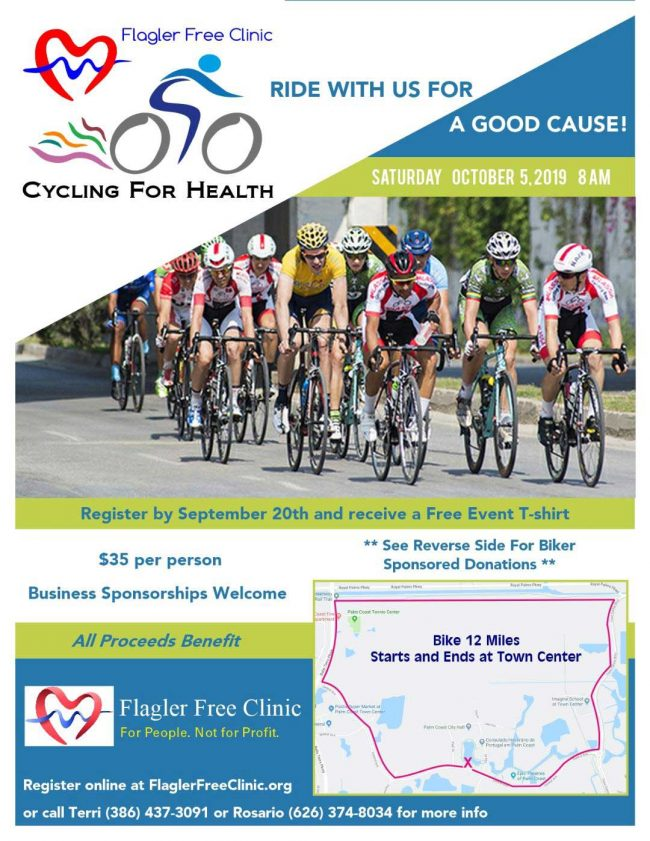 cycling for health flagler county free clinic