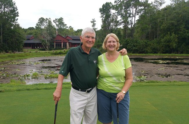 Doug Brown and Janice Reid, the new owners of Cypress Knoll Golf and Country Club in Palm Coast's E Section.