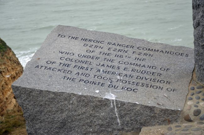 The D-Day landing in Normandy, whose 75th anniversary was Thursday, was on June 6, but it wasn't until June 8 that, after a fierce battle, the famous Pointe du Hoc was finally secured against German (and some French civilian) attacks, and after the Ranger landing force of 225 was reduced by more than half. (c FlaglerLive)